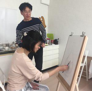絵画教室 体験レッスン 基礎デッサン04