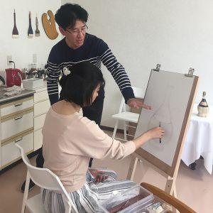 絵画教室 体験レッスン 基礎デッサン03
