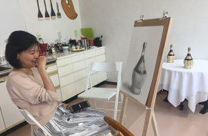 絵画教室2体験レッスン 基礎デッサン02