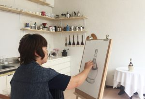 絵画教室 体験レッスン 基礎デッサン07